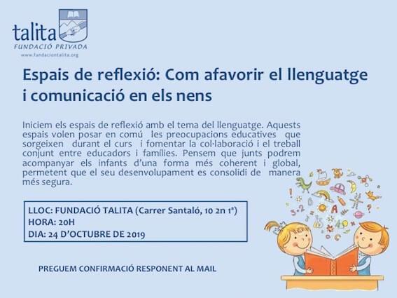 24 d'octubre: Com afavorir el llenguatge i la comunicació en els nens